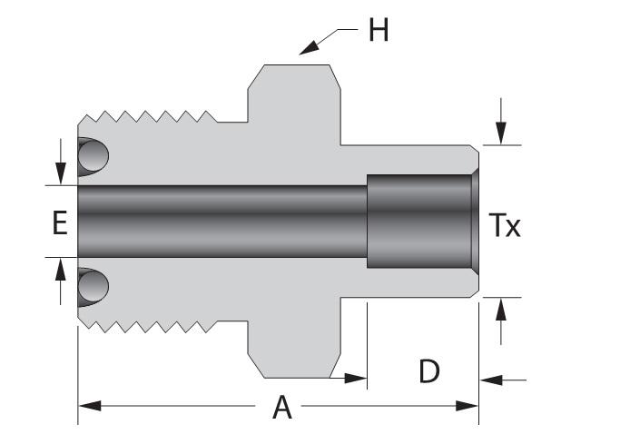 Tube socket weld connector on dk lok usa