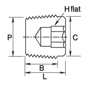 Gpb Series Hollow Hex Plugs