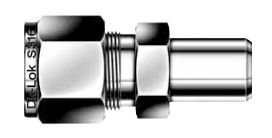 Dcw z male pipe weld connector ferrule tube fittings