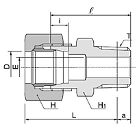 BMC-R Series Male Connector Tube Fittings - 2