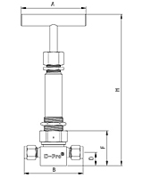 V13W-Series-Bellows-Valves-Dimensional-Drawing