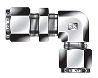 DBL Bulkhead Elbow Union Tube Fittings Metric