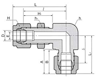 DBL Bulkhead Elbow Union Tube Fittings Metric-2