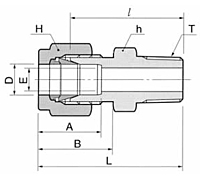DMC-R Male Connector Tube Fittings-2
