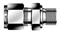 DMC-G Male Connector Tube Fittings for Bonded Gasket Seal