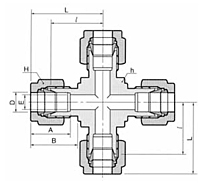 DX Union Cross Tube Fittings-2