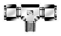 DTBM-N Male Branch Tee Tube Fittings