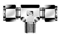 DTBM-R Male Branch Tee Tube Fittings