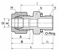 DMC-NO O-Seal Straight Thread Connector Tube Fittings-2