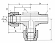 DTRM-N Male Run Tee Tube Fittings -2